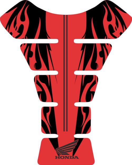 3D объёмная наклейка на бак Honda-red-black-flames
