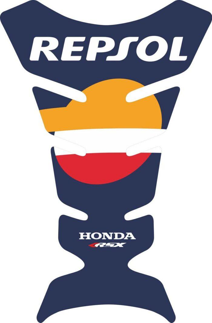 3D объёмная наклейка на бак Honda-blue-repsol