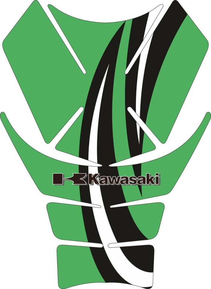 Объёмные 3D наклейки на бак Kawasaki 2-TANK-PAD-002