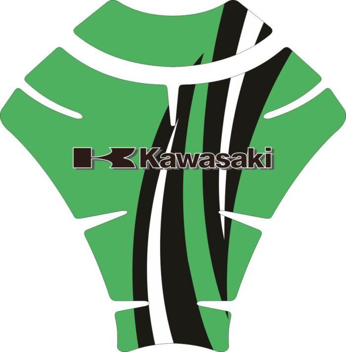 Объёмные 3D наклейки на бак Kawasaki 2-TANK-PAD-003