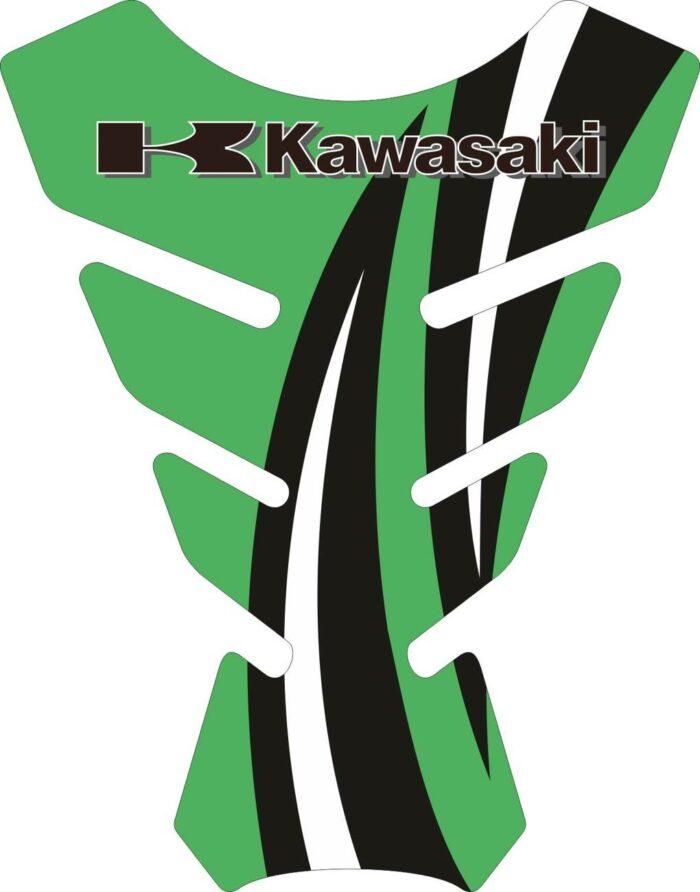 Объёмные 3D наклейки на бак Kawasaki 2-TANK-PAD-004
