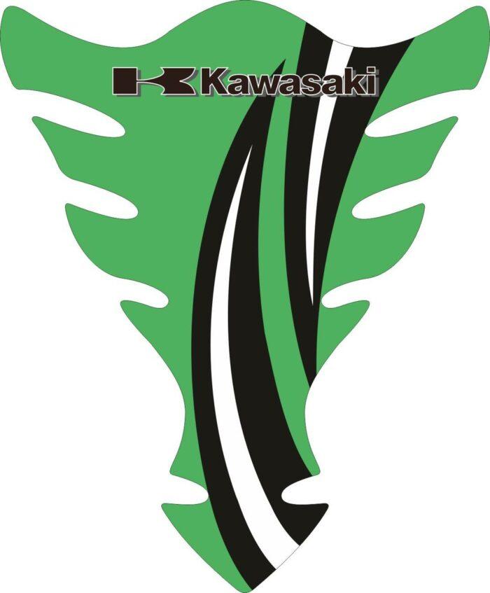 Объёмные 3D наклейки на бак Kawasaki 2-TANK-PAD-015