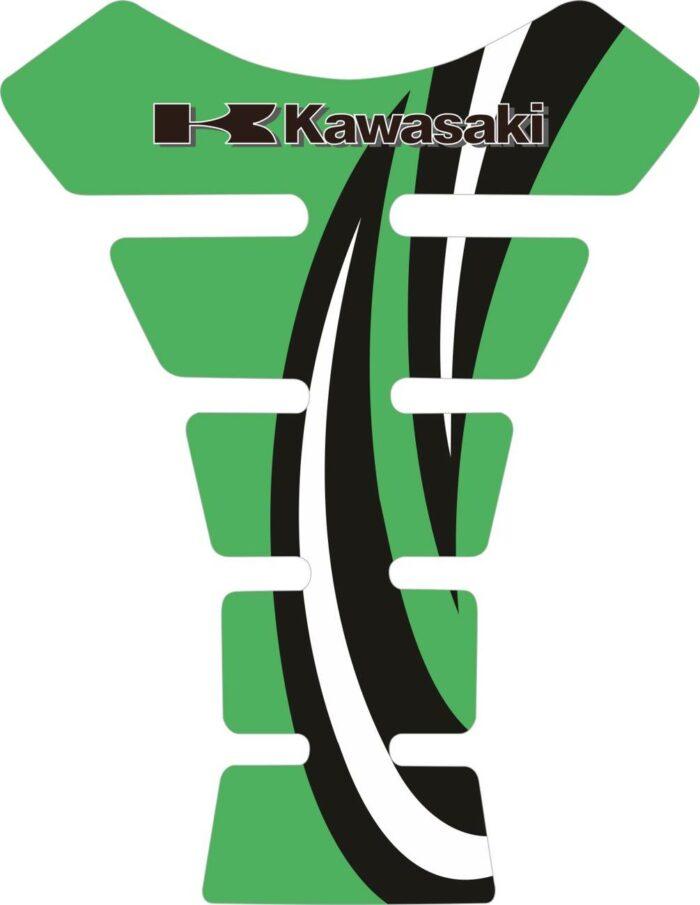 Объёмные 3D наклейки на бак Kawasaki 2-TANK-PAD-016