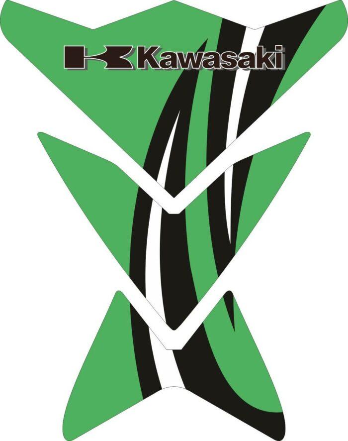Объёмные 3D наклейки на бак Kawasaki 2-TANK-PAD-017