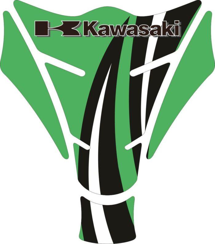 Объёмные 3D наклейки на бак Kawasaki 2-TANK-PAD-020