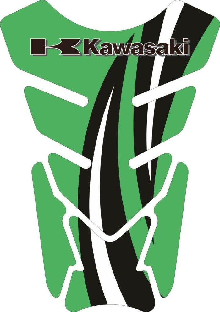 Объёмные 3D наклейки на бак Kawasaki 2-TANK-PAD-023