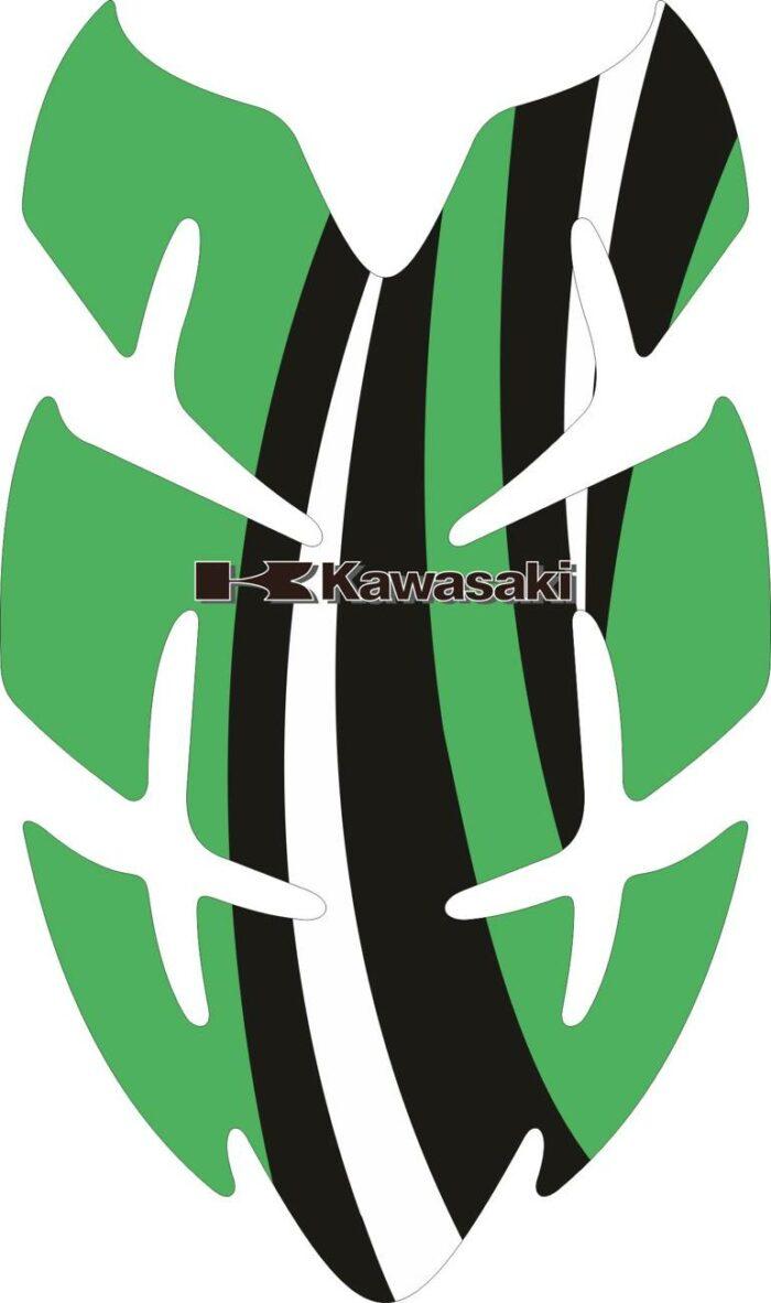 Объёмные 3D наклейки на бак Kawasaki 2-TANK-PAD-025