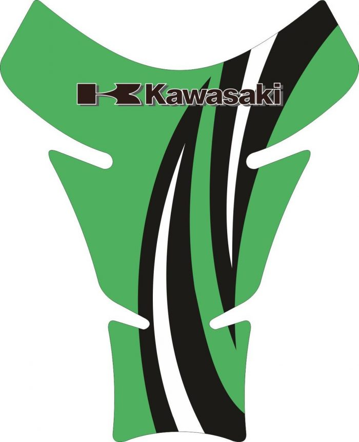 Объёмные 3D наклейки на бак Kawasaki 2-TANK-PAD-026