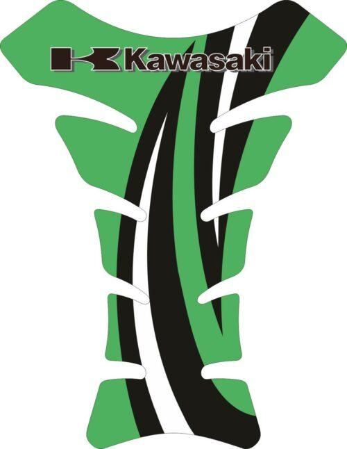 Объёмные 3D наклейки на бак Kawasaki 2-TANK-PAD-028