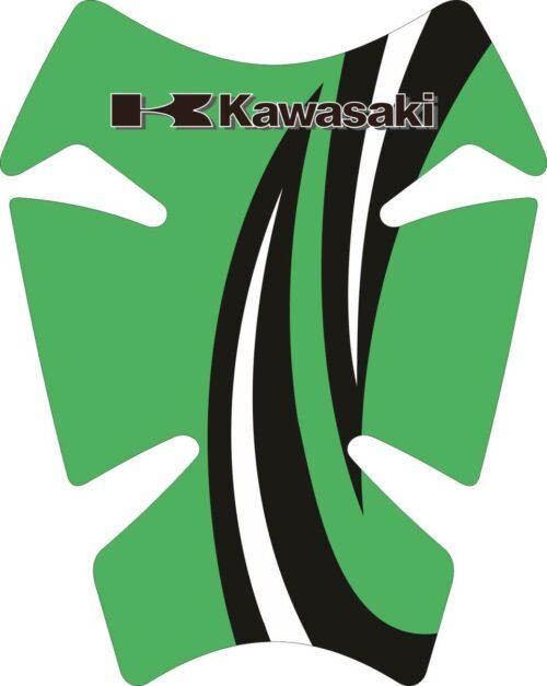 Объёмные 3D наклейки на бак Kawasaki 2-TANK-PAD-029