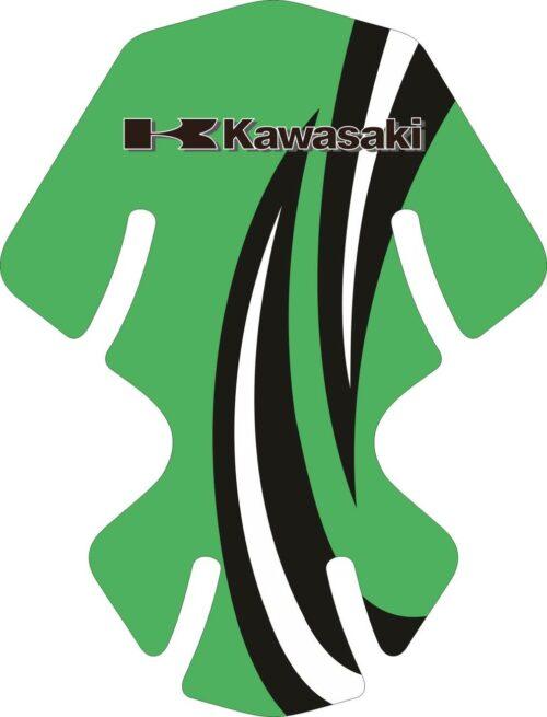Объёмные 3D наклейки на бак Kawasaki 2-TANK-PAD-031