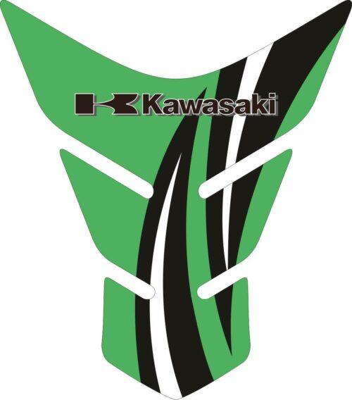 Объёмные 3D наклейки на бак Kawasaki 2-TANK-PAD-034