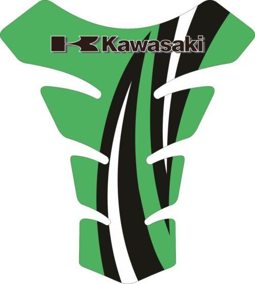Объёмные 3D наклейки на бак Kawasaki 2-TANK-PAD-035