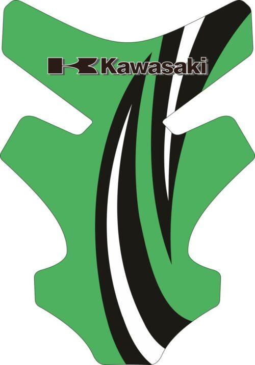 Объёмные 3D наклейки на бак Kawasaki 2-TANK-PAD-037