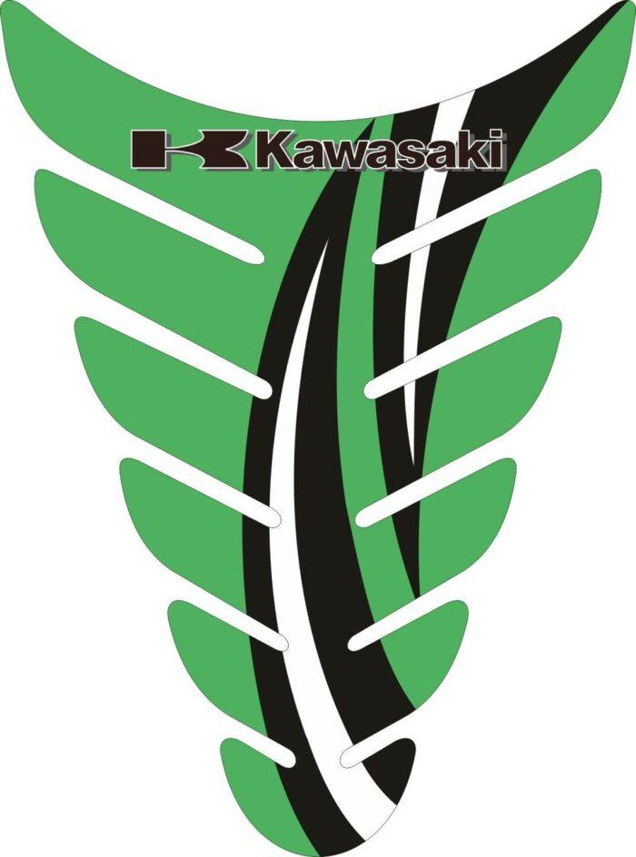 Объёмные 3D наклейки на бак Kawasaki 2-TANK-PAD-038