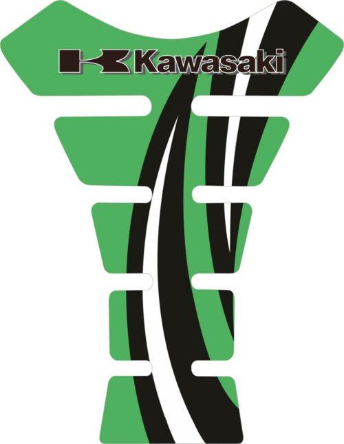 Объёмные 3D наклейки на бак Kawasaki 2-TANK-PAD-044