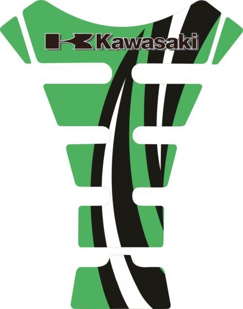 Объёмные 3D наклейки на бак Kawasaki 2-TANK-PAD-047