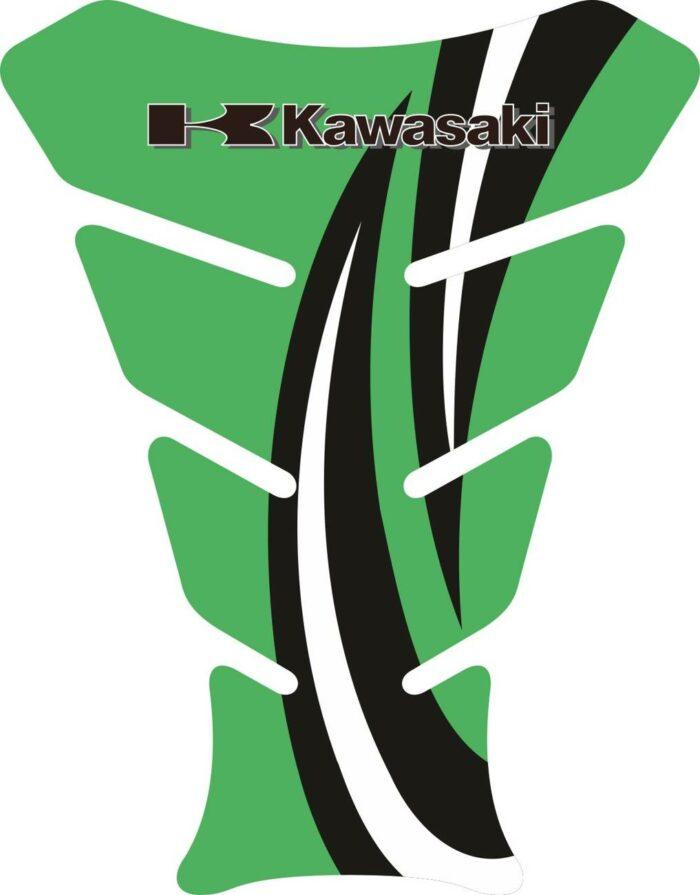 Объёмные 3D наклейки на бак Kawasaki 2-TANK-PAD-053