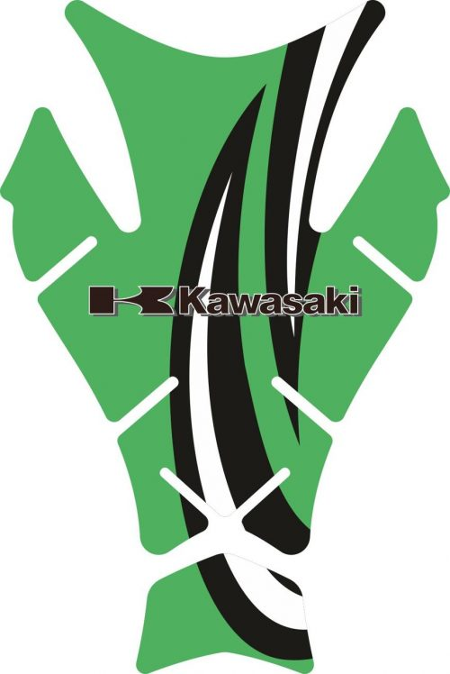 Объёмные 3D наклейки на бак Kawasaki 2-TANK-PAD-065