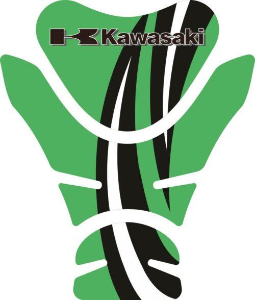 Объёмные 3D наклейки на бак Kawasaki 2-TANK-PAD-066