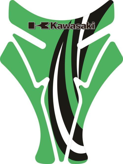 Объёмные 3D наклейки на бак Kawasaki 2-TANK-PAD-070