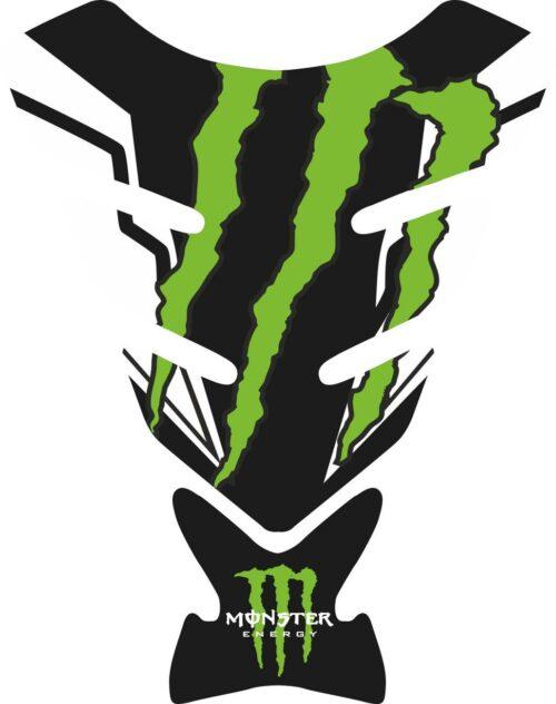 Объёмные 3D наклейки на бак Monster green