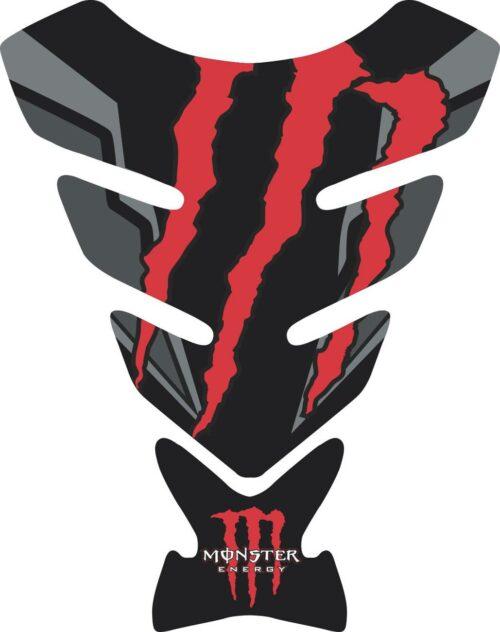 Объёмные 3D наклейки на бак Monster red