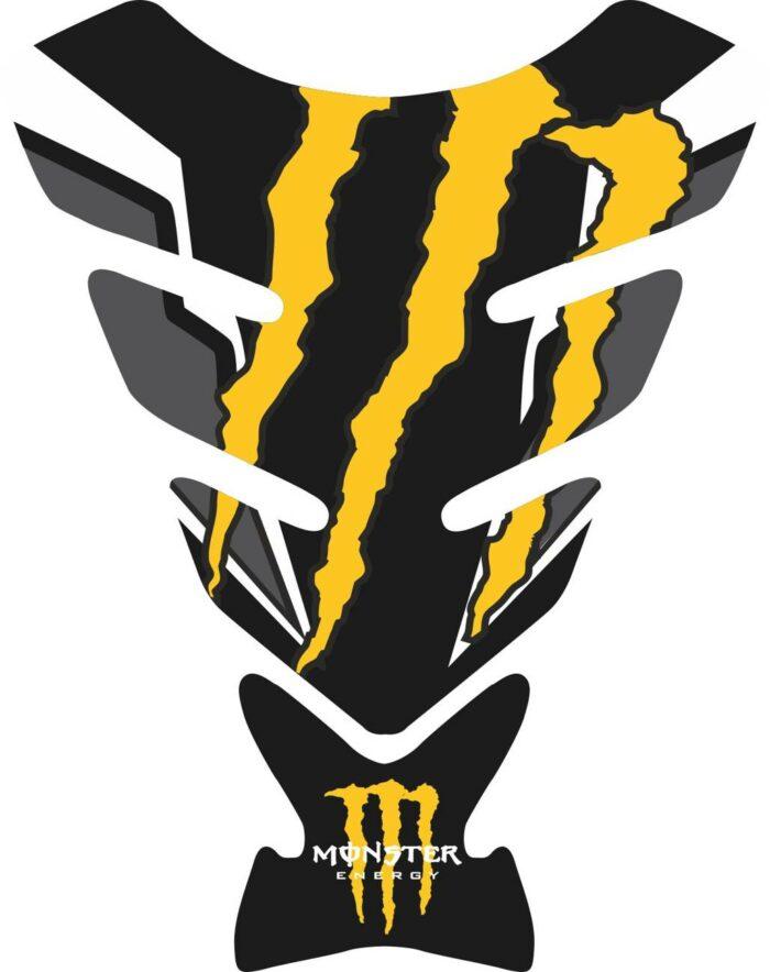 Объёмные 3D наклейки на бак Monster yellow