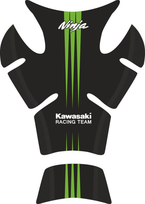Объёмные 3D наклейки на бак Kawasaki Racing-team