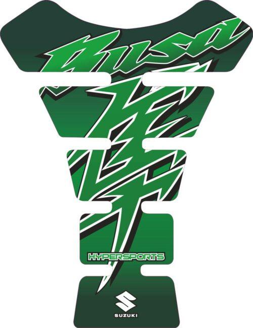 Объёмная 3D наклейка на бак Suzuki-Busa-green