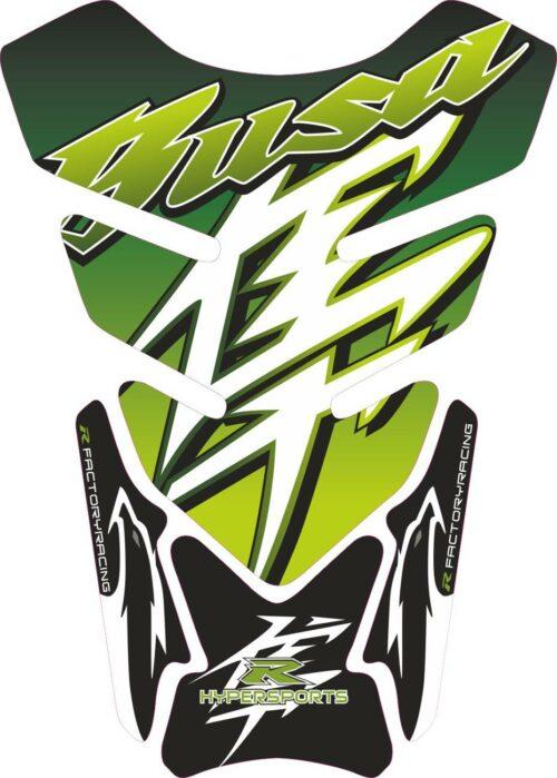 Объёмная 3D наклейка на бак Suzuki-Busa-light-green