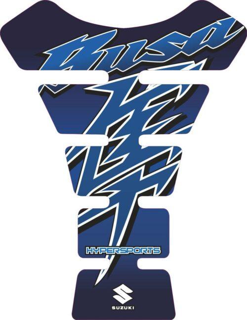 Объёмная 3D наклейка на бак Suzuki-Busa-blue