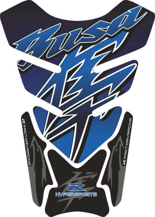 Объёмная 3D наклейка на бак Suzuki-Busa-blue-2