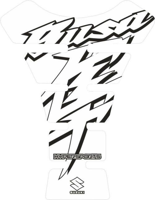 Объёмная 3D наклейка на бак Suzuki-Busa-white