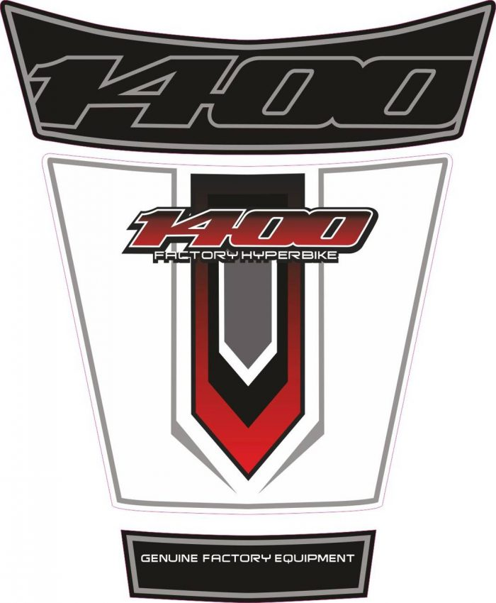 Объёмная 3D наклейка на бак Suzuki-1400-red-white-black