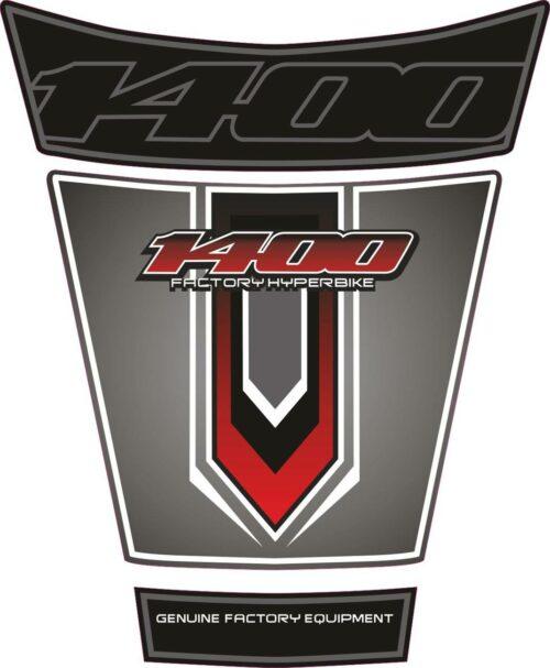 Объёмная 3D наклейка на бак Suzuki-1400-red-grey