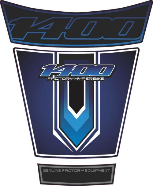 Объёмная 3D наклейка на бак Suzuki-1400-dark-blue