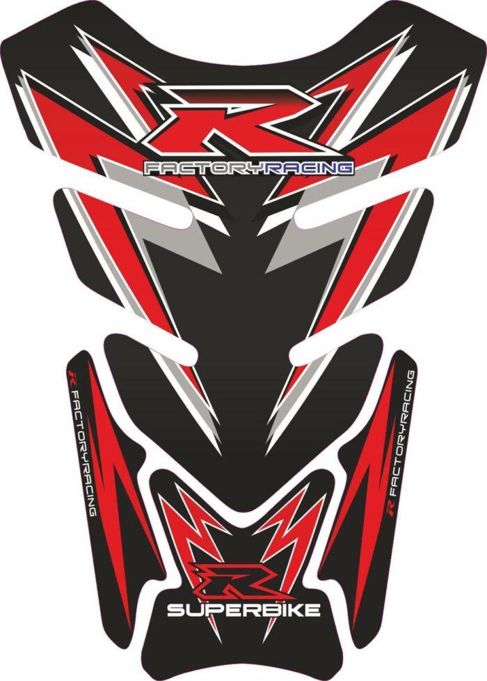 Объёмная 3D наклейка на бак Suzuki-R-black-red