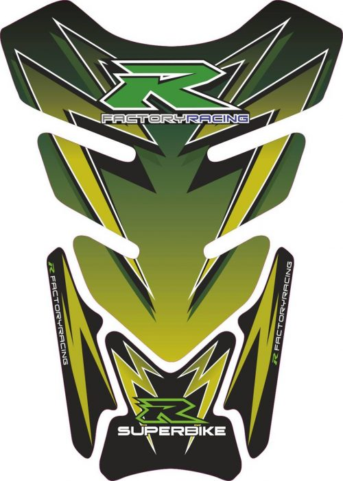 Объёмная 3D наклейка на бак Suzuki-R-green