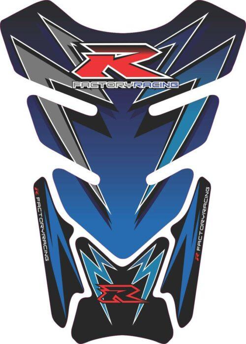 Объёмная 3D наклейка на бак Suzuki-R-blue