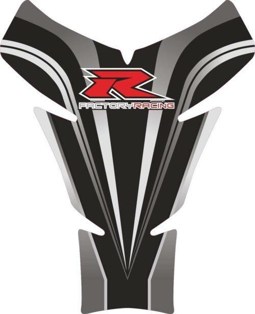 Объёмная 3D наклейка на бак Suzuki-R-factory-racing-grey