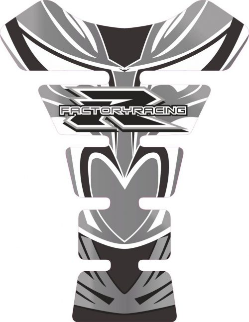 Объёмная 3D наклейка на бак Suzuki-R-factory-racing-white-grey