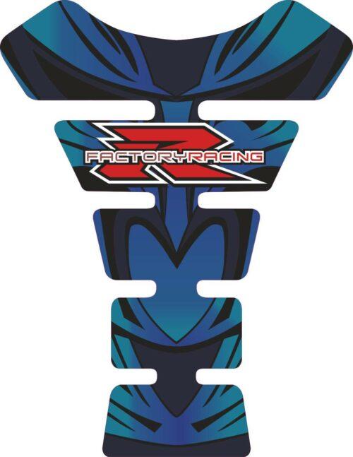 Объёмная 3D наклейка на бак Suzuki-R-factory-racing-blue