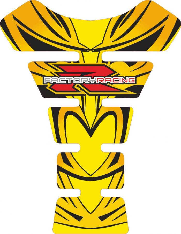 Объёмная 3D наклейка на бак Suzuki-R-factory-yellow