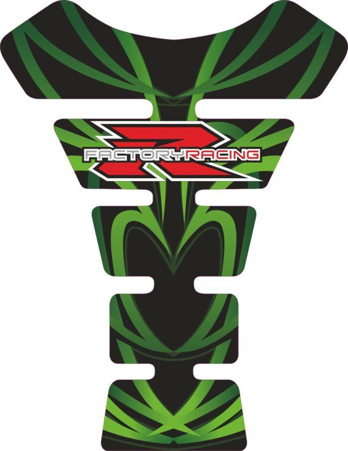 Объёмная 3D наклейка на бак Suzuki-R-factory-green