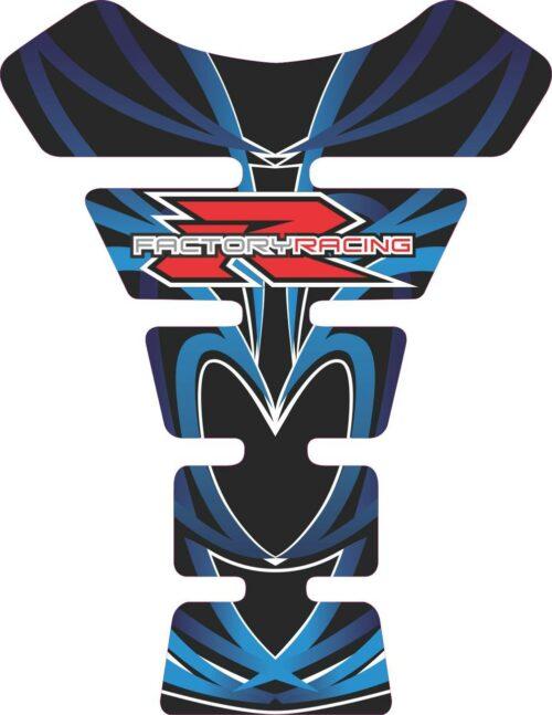 Объёмная 3D наклейка на бак Suzuki-R-factory-blue