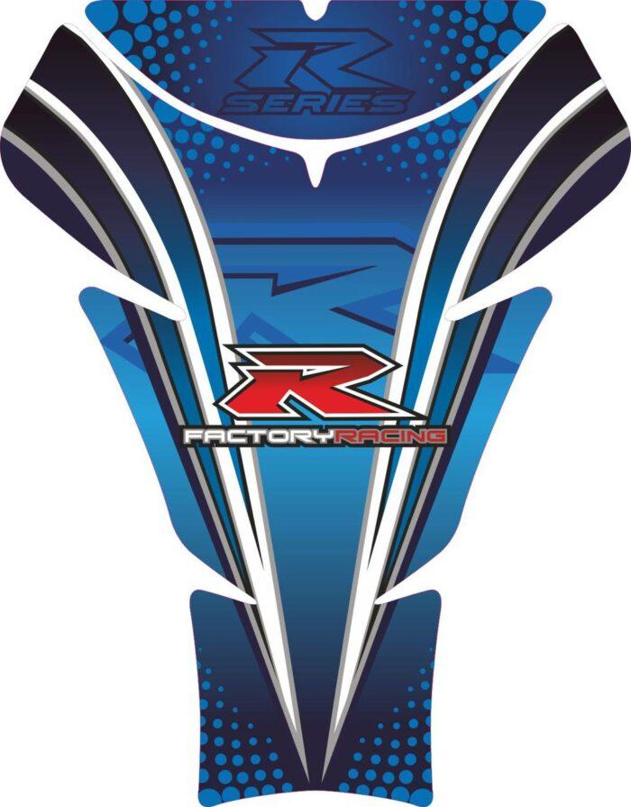 Объёмная 3D наклейка на бак Suzuki-R-series-blue-black