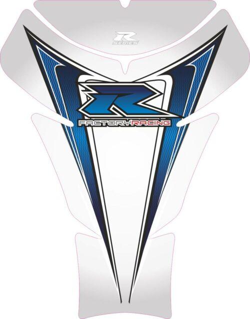 Объёмная 3D наклейка на бак Suzuki-R-series-grey-blue