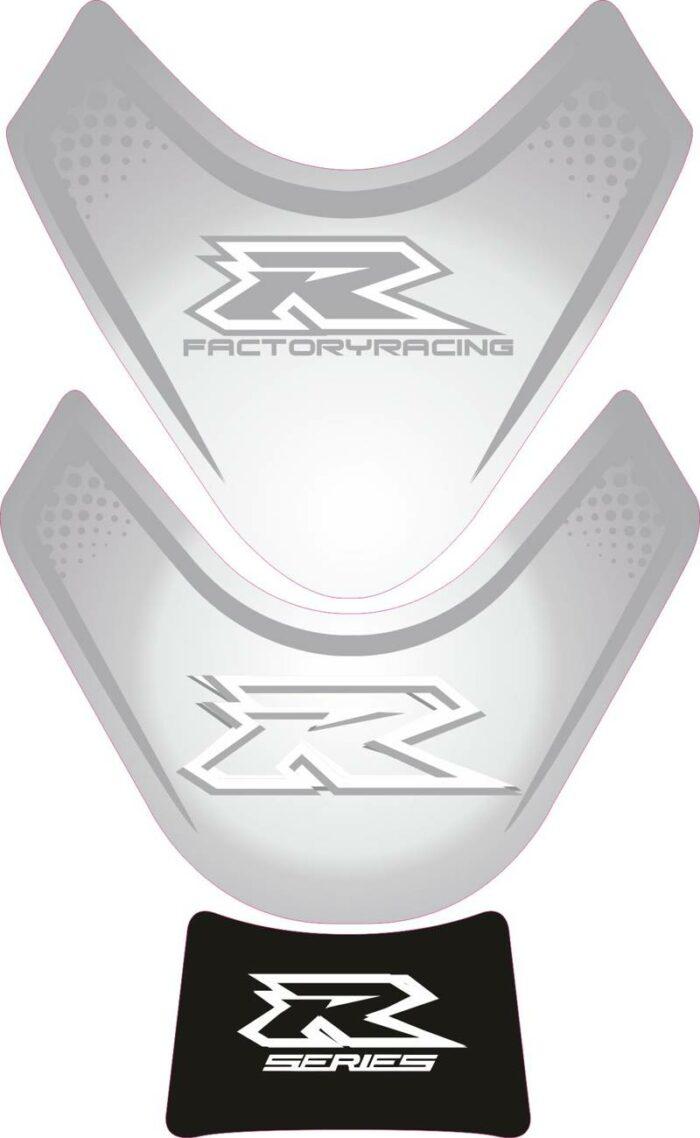 Объёмная 3D наклейка на бак Suzuki-R-series-grey