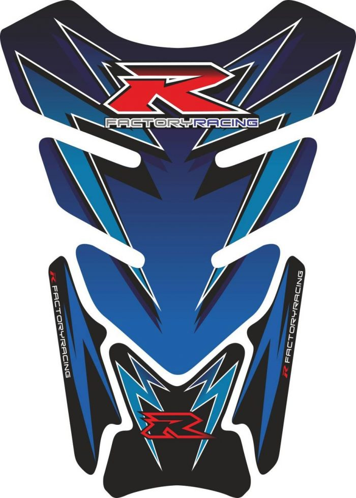 Объёмная 3D наклейка на бак Suzuki-R-blue-flash
